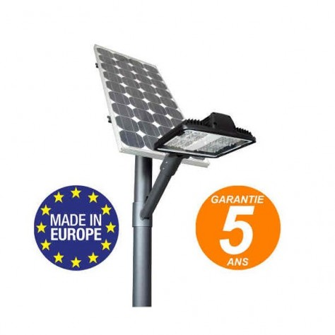 Lampadaire solaire 4,5m éclairage piétonnier lanterne fabrication Européenne