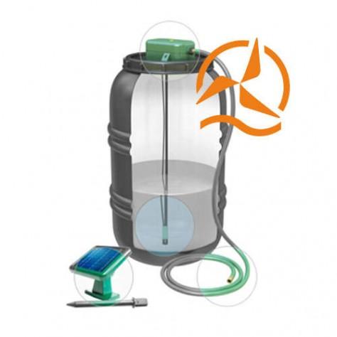 Kit pompage solaire récupération eau de pluie