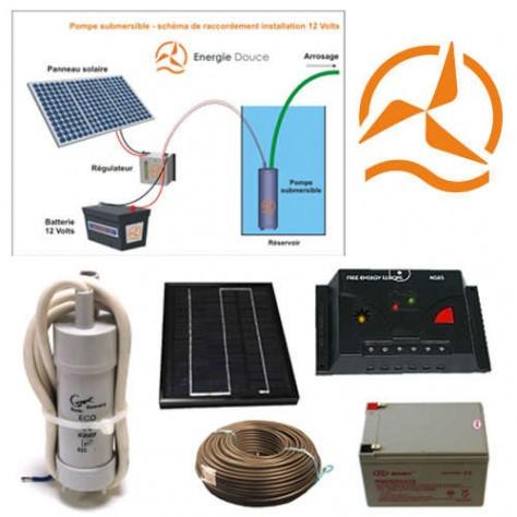 kit solaire complet pompage 12 volts 5 watts. Black Bedroom Furniture Sets. Home Design Ideas