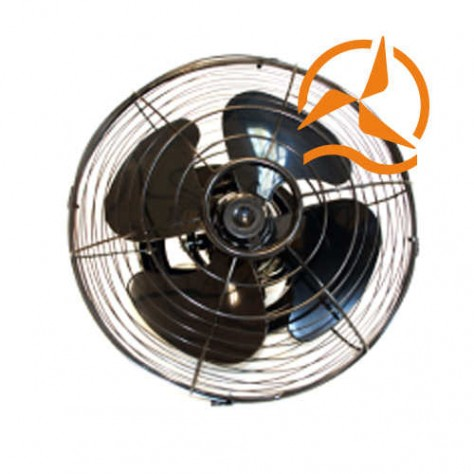 Ventilateur puissant 37,5 cm 12 Volts sur support orientable