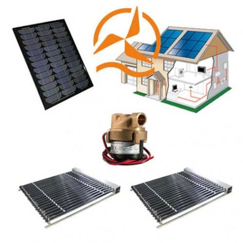kit 12 volts complet capteur solaire tubes sous vide avec circulateur et panneau solaire. Black Bedroom Furniture Sets. Home Design Ideas
