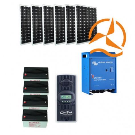 Kit solaire 3000 à 15000 Wh 48 Volt très haute qualité - Back-up Energy System