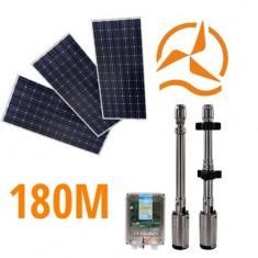 Kit solaire complet pompage 180 mètres 48-72 Volts 400-500 Watts