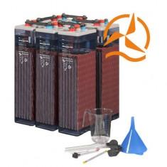 Lot de 6 batteries ouvertes OPzS 2 Volts 910 Ah très longue durée de vie
